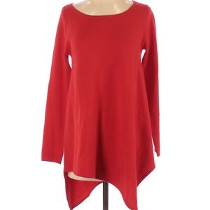 Neiman Marcus Red Cashmere Pullover Sweater